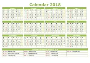 Calendar 2018 Printable Yearly Yearly Calendar 2018 Printable Activity Shelter