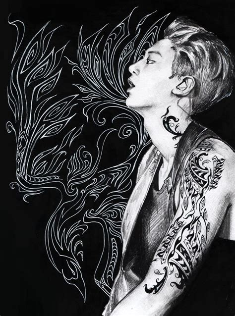 tattoo chanyeol tattoo chanyeol by almightycrow on deviantart