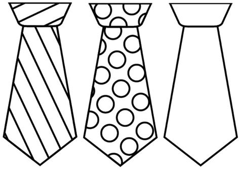 Tie Shaped Card Template by S Day Tie Cards Free Printable Template