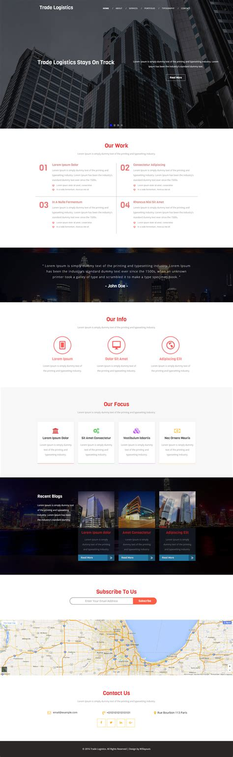 bootstrap templates for logistics trade logistics a corporate category flat bootstrap