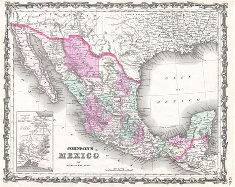 texas and mexico map file 1862 johnson map of mexico and texas geographicus mexico johnson 1862 jpg