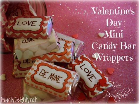 valentine s day miniature candy bar wrappers
