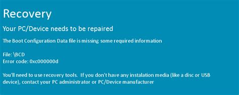 keyliner your pc device needs to be repaired uefi