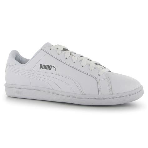 mens white leather sneakers smash leather casual trainers mens white white