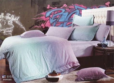 Sprei Set Swan In Violet King Size Ukuran 180 X 200 1 sets king size 4pc bedding set animal light purple swan bed mattress sale
