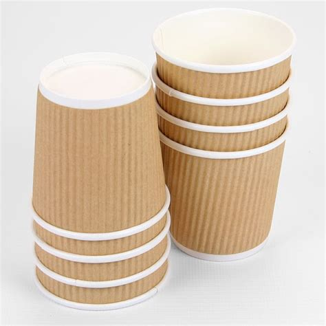 A Paper Cup - small 4oz brown ripple paper cups pipii