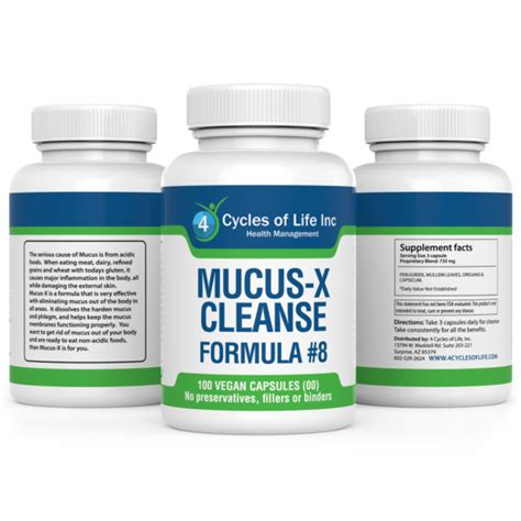 How To Detox Mucus From Your by Mucus X Cleanse Restoration Formula 8 4 Cycles Of
