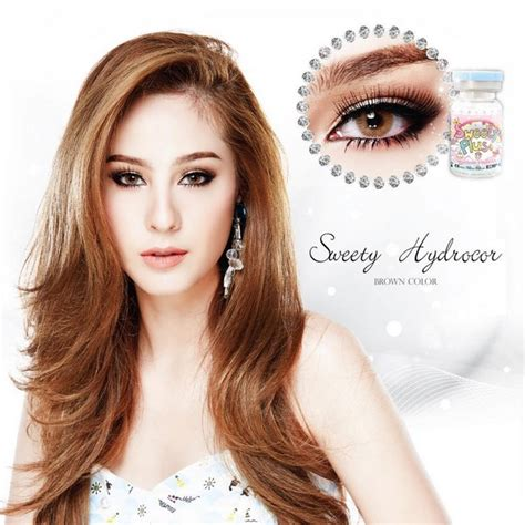 Softlens Sweety Spartax Brown 145mm jual softlens sweety hydrocor brown coklat gold geo