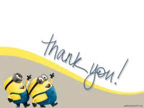 powerpoint templates thank you minion thank you clipart clipartsgram