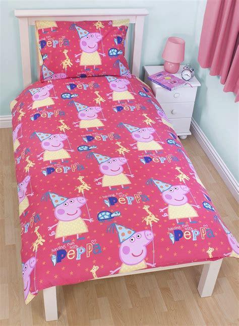 pig bedding set peppa pig funfair single panel duvet quilt cover kids