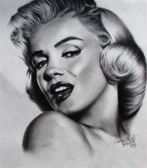 marilyn monroe zeichnung marilyn monroe drawing by samantha howell
