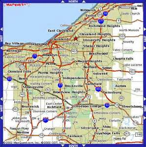 Northeast Ohio Map by Map Of Cleveland Ohio Pictures To Pin On Pinterest Pinsdaddy