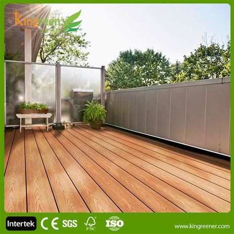 sale hollow tongue  groove composite decking solid