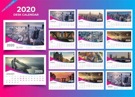 desk calendar  template vector premium