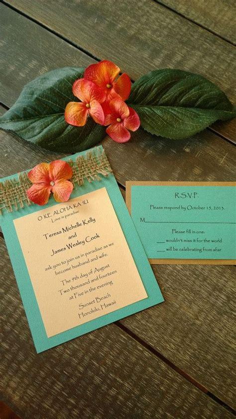 free hawaiian themed wedding invitations rustic and themed destination wedding tropical