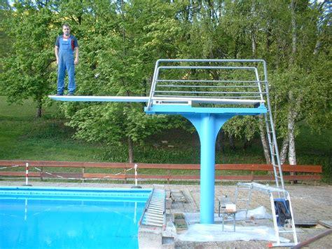 schwimmbad mit sprungbrett 2005 renovierung sprungbrett schwimmfreunde und