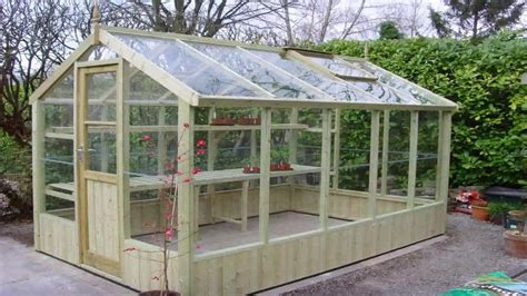 wood greenhouse plans  youtube