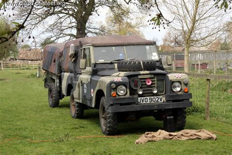 land rover camo land rover 88 serie iii soft top canvas with trailer
