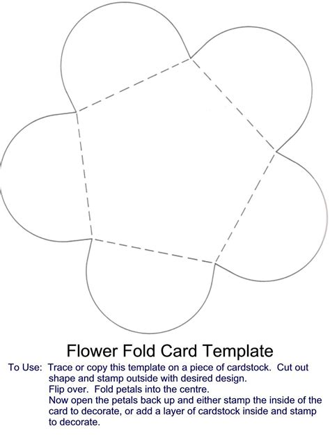fold card template flower fold card template card card