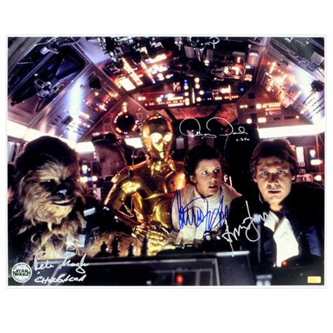 anthony daniels autograph value lot detail harrison ford carrie fisher peter mayhew