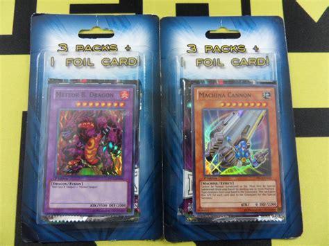 Yugioh Card Pack 9 Card mystery yugioh blister pack 3 booster packs 1 foil card