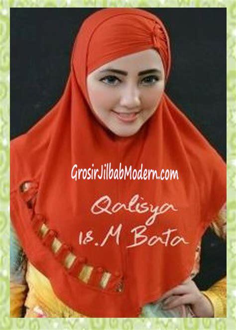 Jilbab Instan Qalisya jilbab syria modis nuha original by qalisya no 18 merah bata grosir jilbab modern jilbab