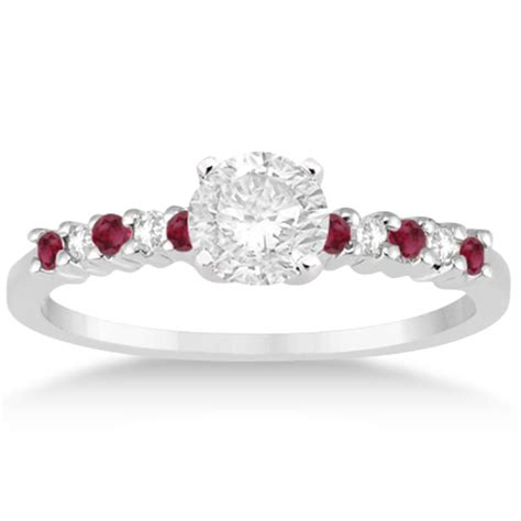 Ruby 5 35ct ruby bridal set platinum 0 35ct u631