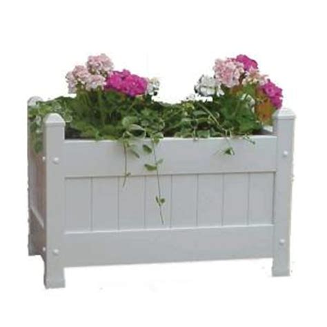 duratrel plastic large planter box discontinued 11124