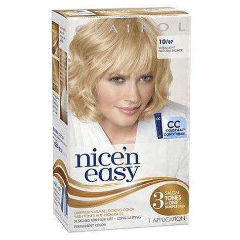 ultra light blonde hair color pictures clairol nice n easy hair color 087 ultra light natural