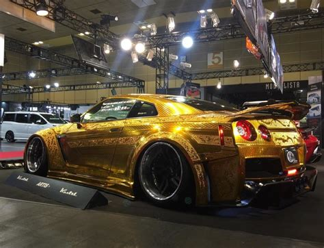 gold nissan car one million dollar gold plated car nissan gt r x auto