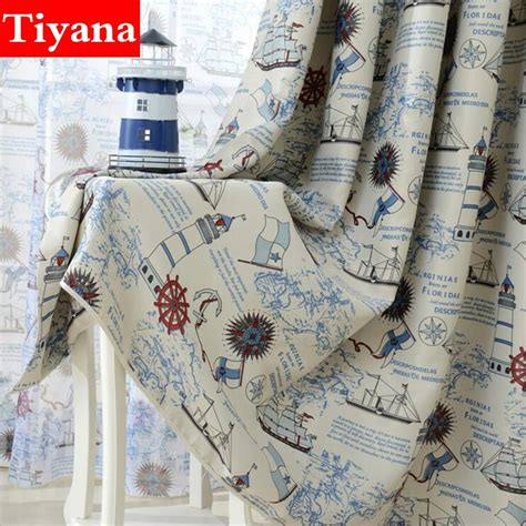 nautical sheer curtains nautical bedroom curtains promotion shop for promotional
