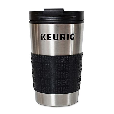 keurig coffee maker bed bath and beyond keurig 174 thermal travel mug in stainless steel black bed