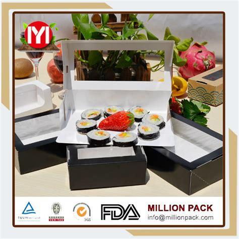 Lunch Box Paper L Box Makanan Kertas Take Away Box sushi dibawa pulang kotak dicetak ramah lingkungan