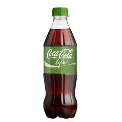 Coca Cola Life Reduced Calorie 20 oz Plastic Bottles