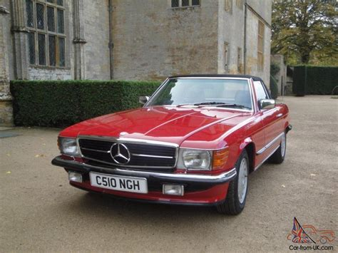 classic red mercedes 1985 classic mercedes 280sl red sports convertible