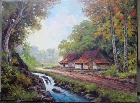 wallpaper pemandangan alam bergerak image gallery lukisan pemandangan