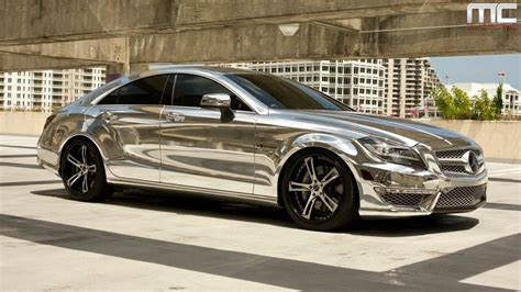 chrome benz mc customs chrome mercedes benz cls63 183 savini wheels