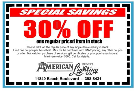 specials american import lighting co