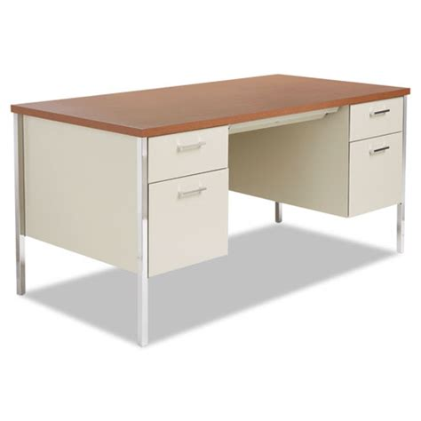 Alesd6030pc Alera 174 Double Pedestal Steel Desk Zuma Steel Office Desk