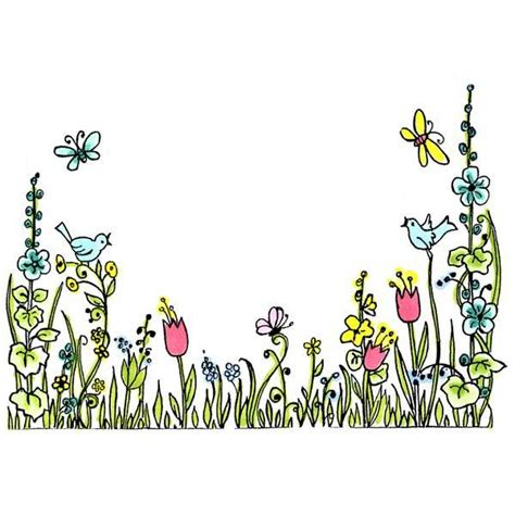 May Borders Clipart by Floral Border Rubber St Sku H228