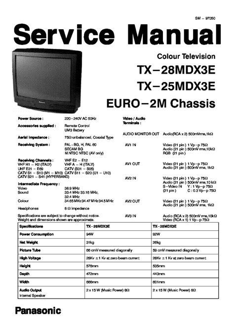 panasonic tx l32b6bs service manual and repair guide