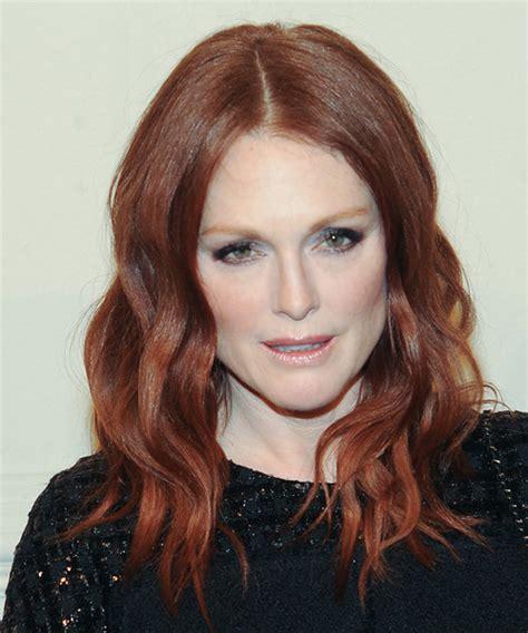 Julianne Moore Long Wavy Casual Hairstyle   Medium Red