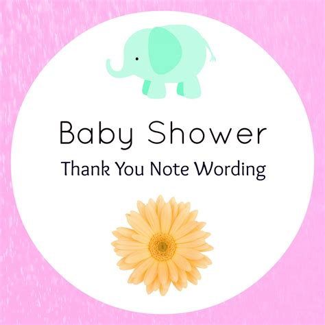 Thank You Letter Verbiage thank you for baby shower gift wording wblqual