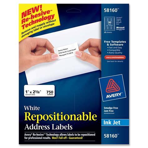 avery template 58160 printer