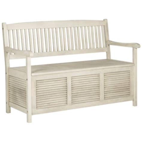 white outdoor storage bench westmore distressed white outdoor storage bench 1t833