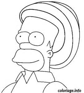 Coloriage Homer Rasta Dessin