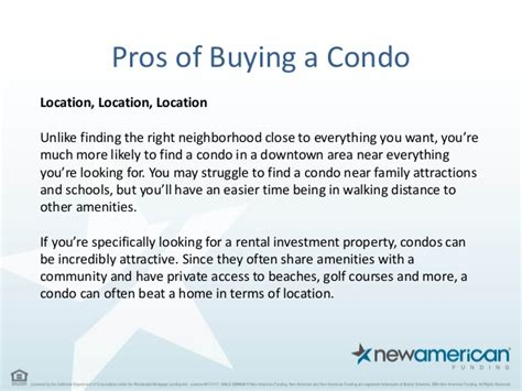 pros and cons of buying a house with cash pros and cons of buying a condo new american funding