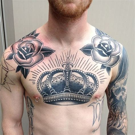 crown tattoo on chest 50 fabulous crown tattoos you should not miss styles weekly