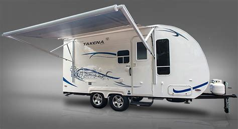 rv automatic awnings takena light travel trailer with automatic awning travel