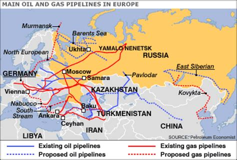 russia europe gas pipelines map allrussias maps of russia